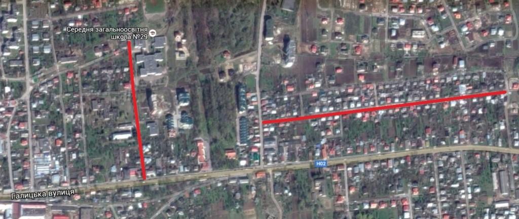 Ремонт двох вулиць у м. Винники (Сухомлинського – зліва та Ціолковського – справа) коштуватимуть бюджету міста 5,14 млн грн